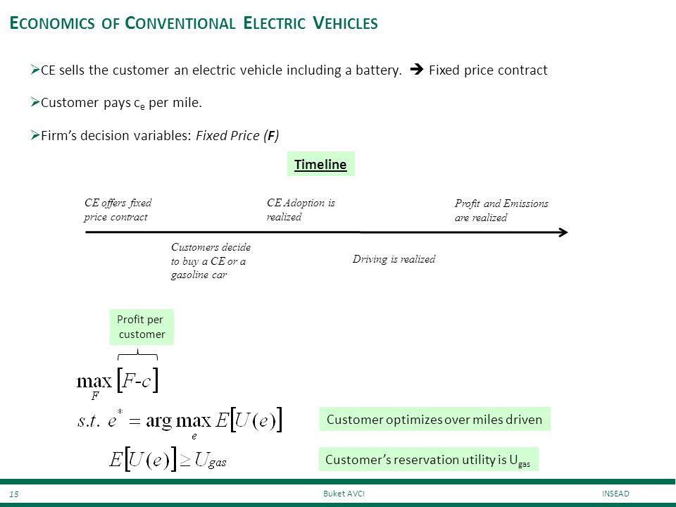 Economics of Conventional Electric Vehicles