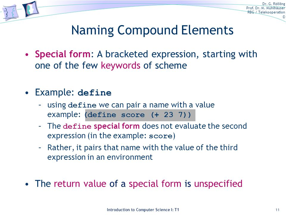 Naming Compound Elements
