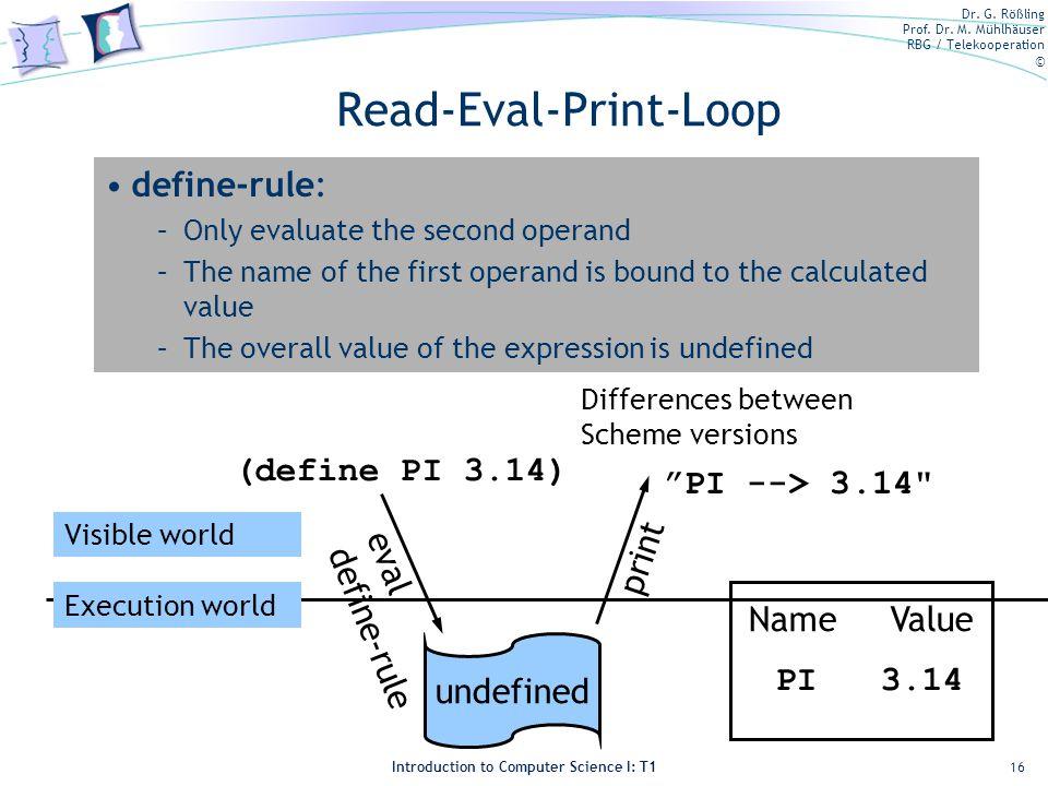 Read-Eval-Print-Loop