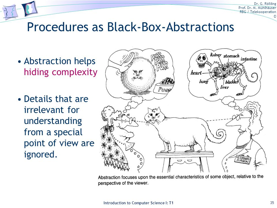 Procedures as Black-Box-Abstractions