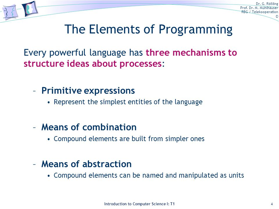 The Elements of Programming