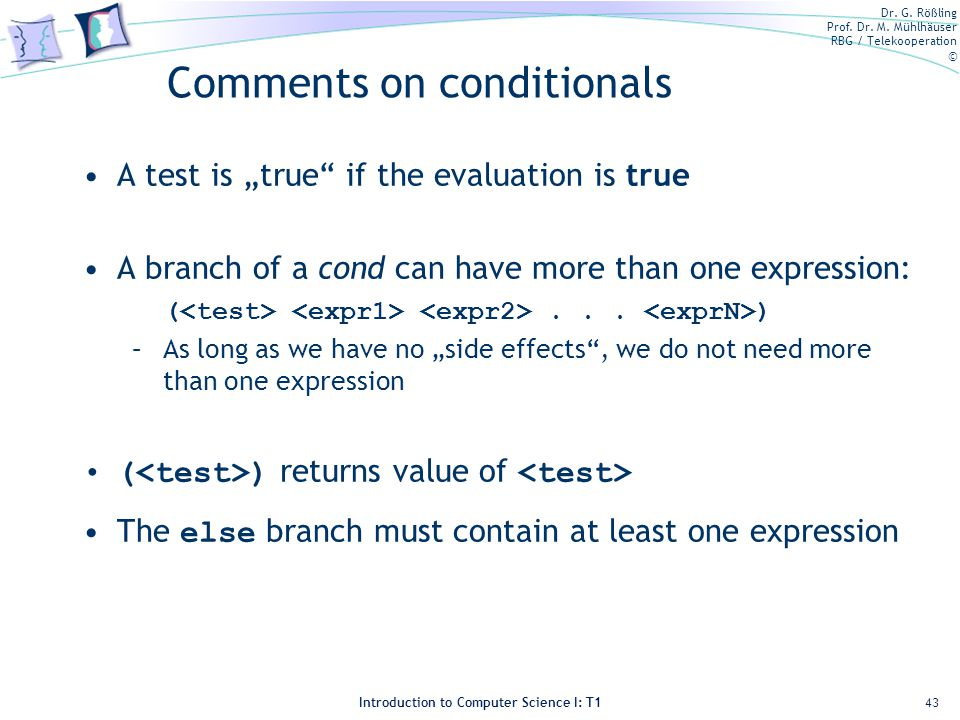 Comments on conditionals