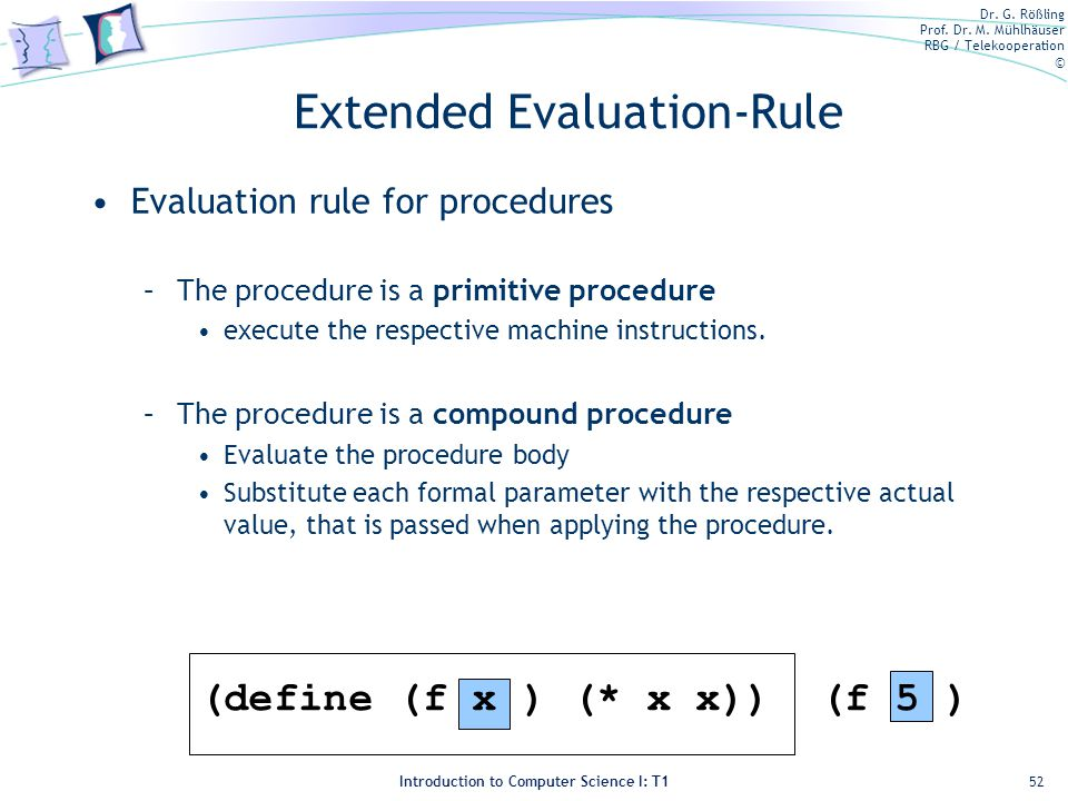 Extended Evaluation-Rule