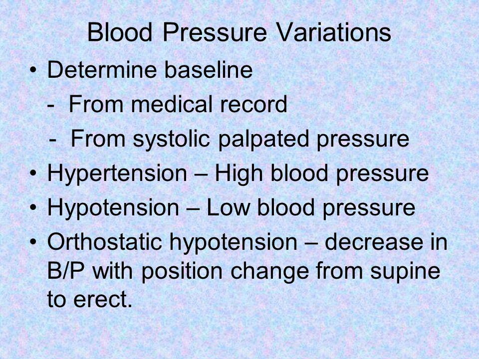 Blood Pressure Variations