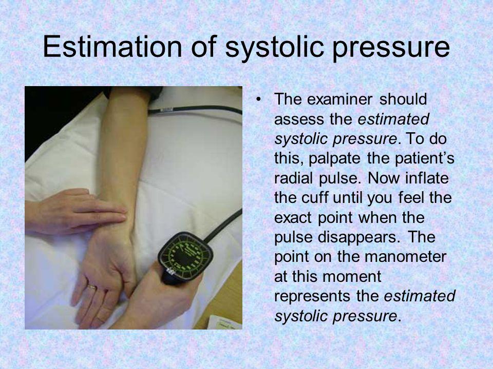 Estimation of systolic pressure