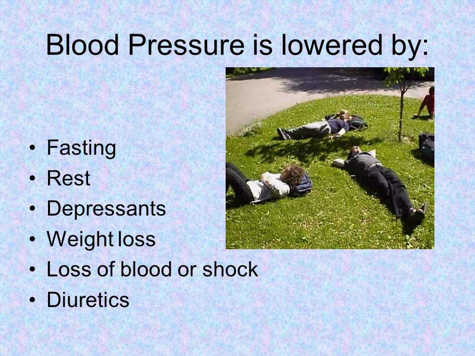 Blood Pressure is lowered by: