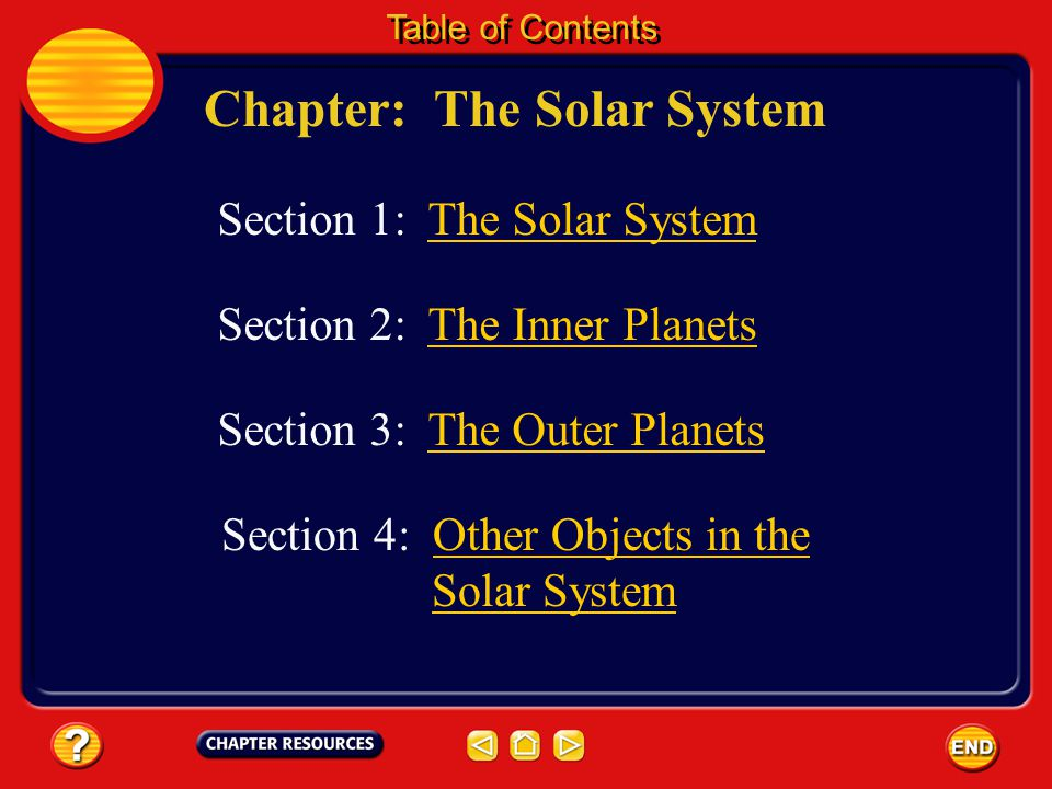 Chapter: The Solar System