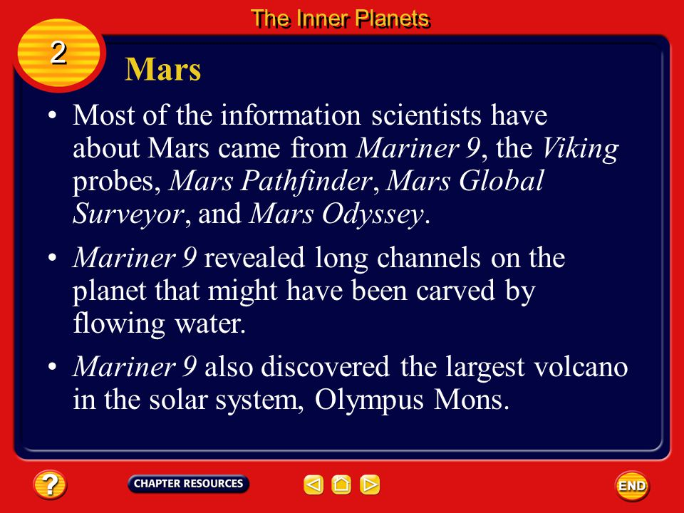 The Inner Planets 2. Mars.