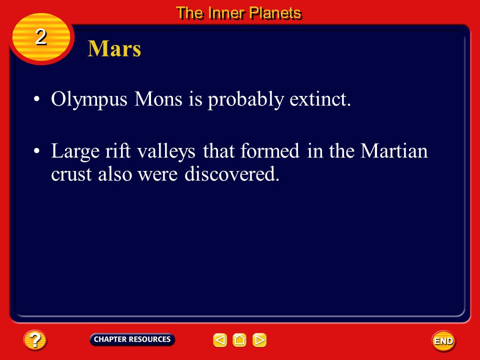 Mars 2 Olympus Mons is probably extinct.
