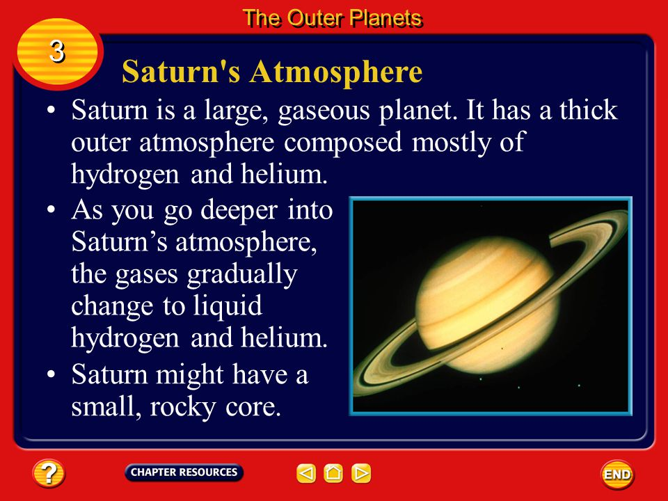 The Outer Planets 3. Saturn s Atmosphere.