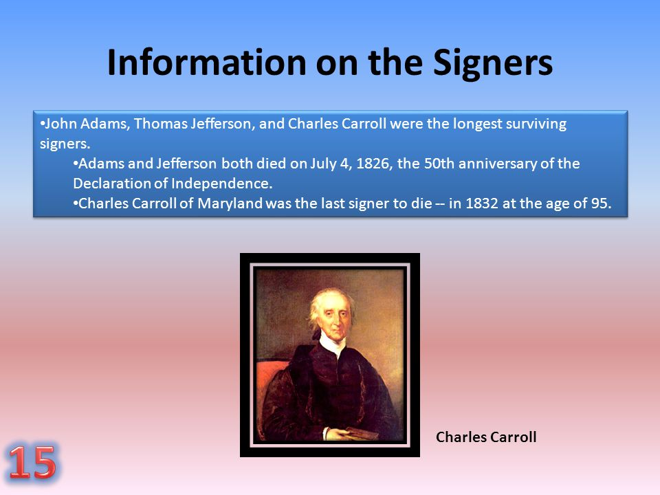 Information on the Signers