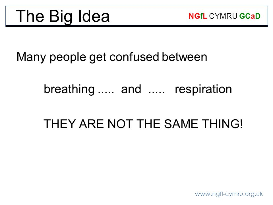 The Big Idea Many people get confused between