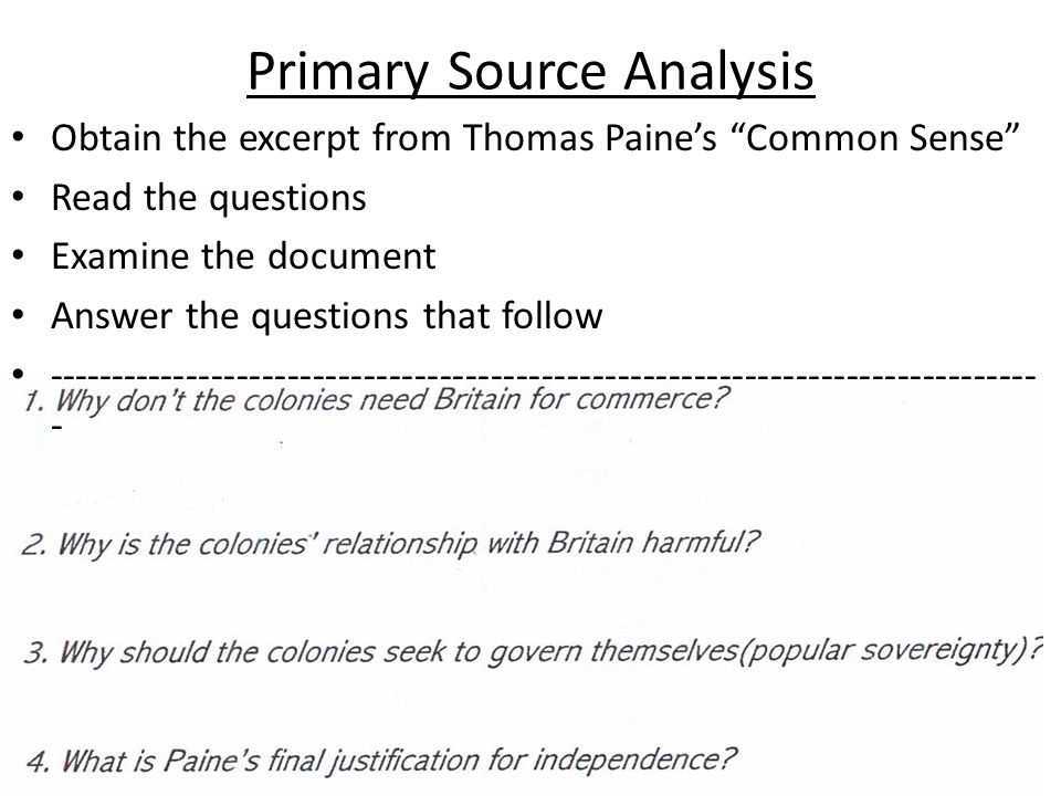 Read along paine questions