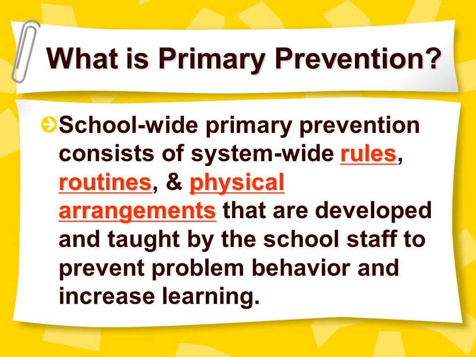 What is Primary Prevention