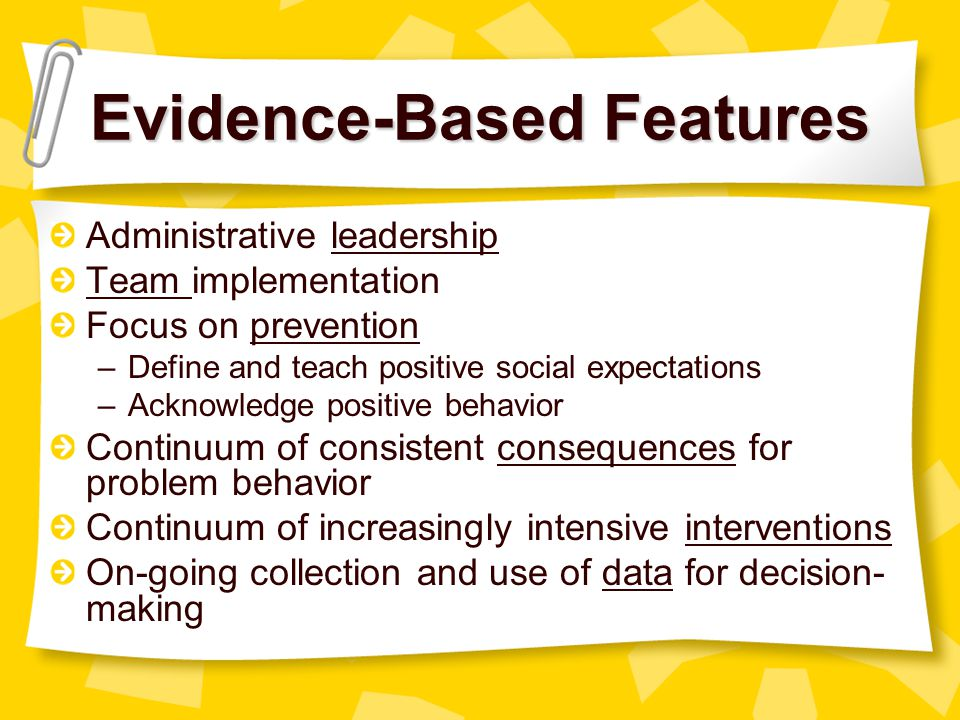 Evidence-Based Features