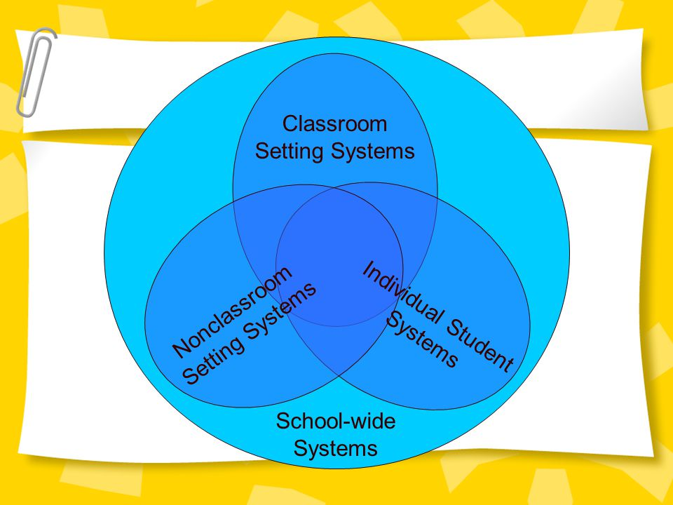 Classroom Setting Systems Nonclassroom Individual Student
