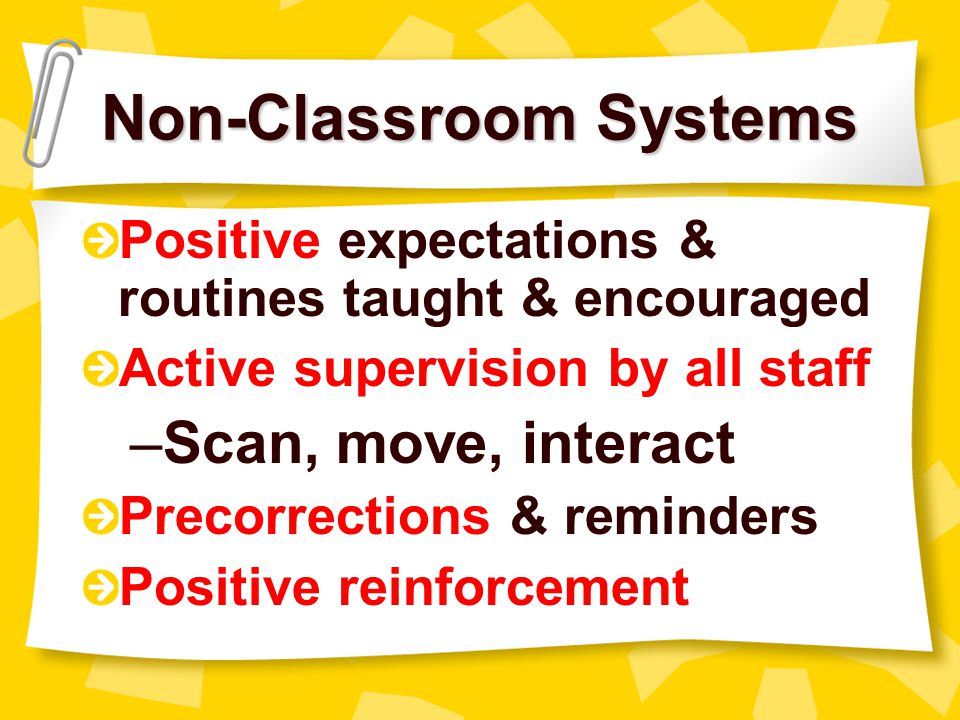 Non-Classroom Systems