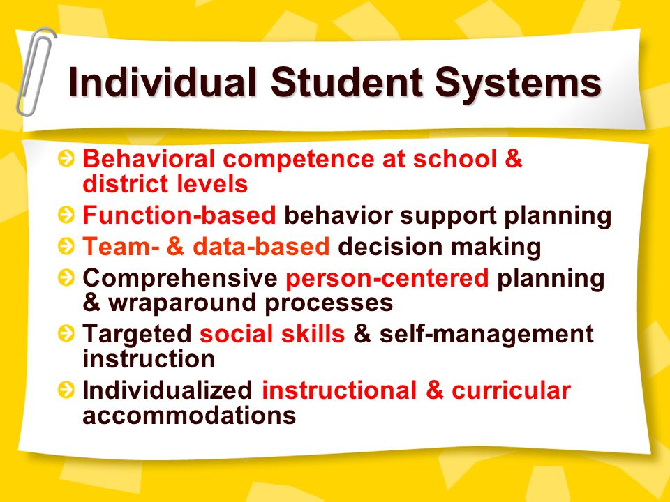 Individual Student Systems