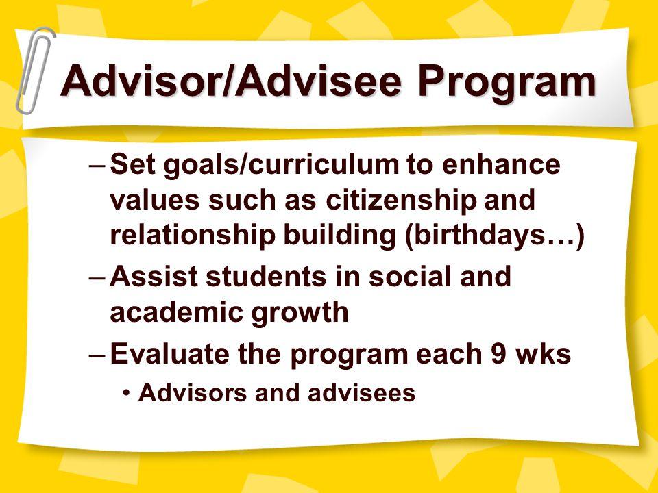 Advisor/Advisee Program