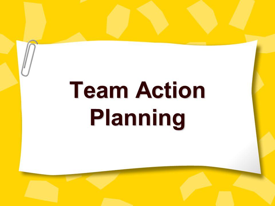 Team Action Planning myell@gwm.sc.edu christle@gwm.sc.edu
