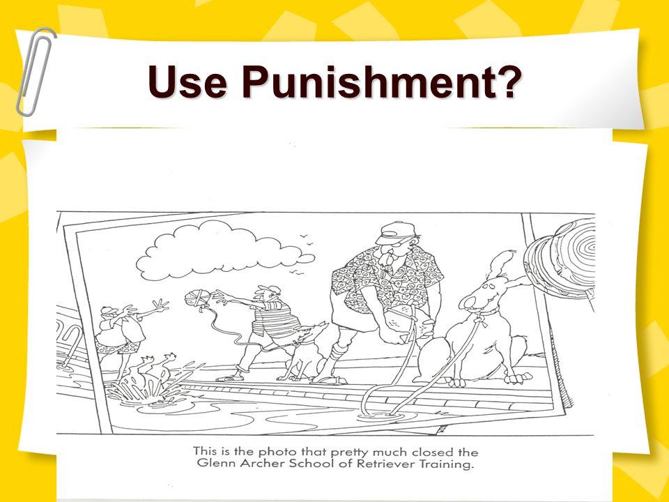 Use Punishment myell@gwm.sc.edu christle@gwm.sc.edu