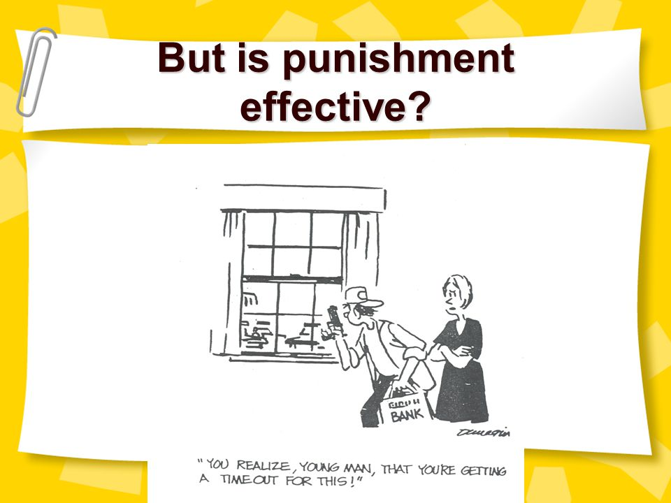 But is punishment effective