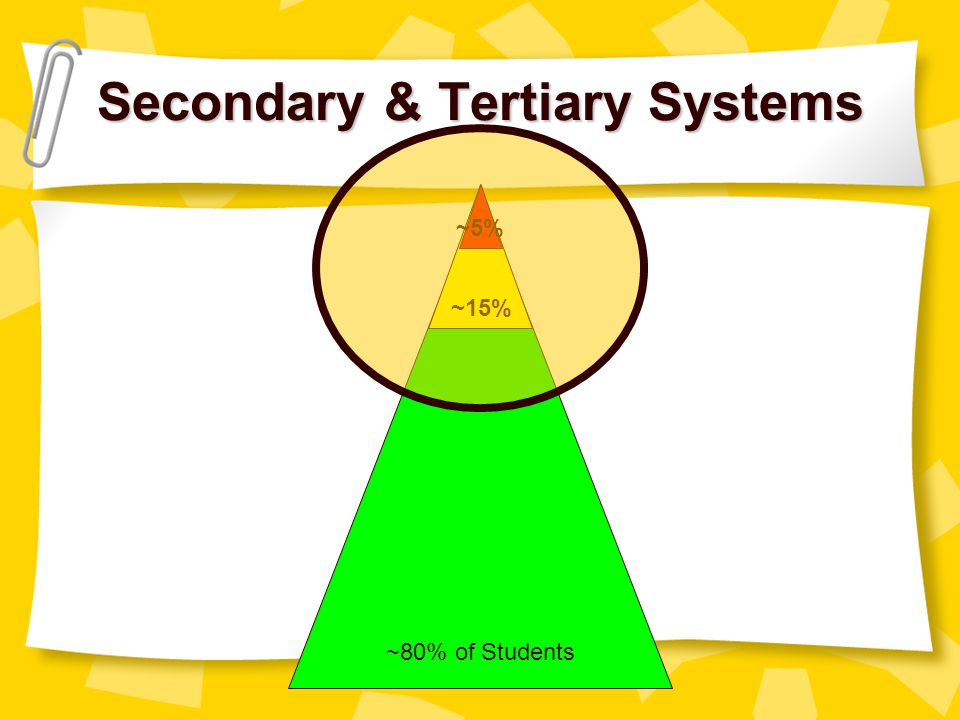 Secondary & Tertiary Systems