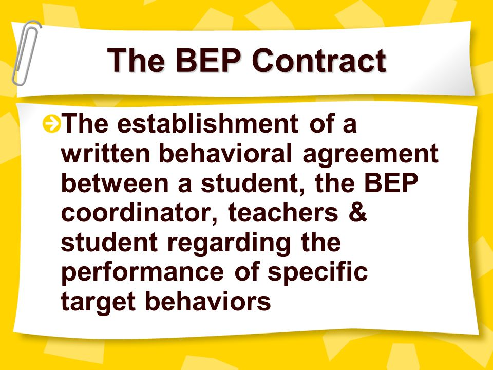 The BEP Contract