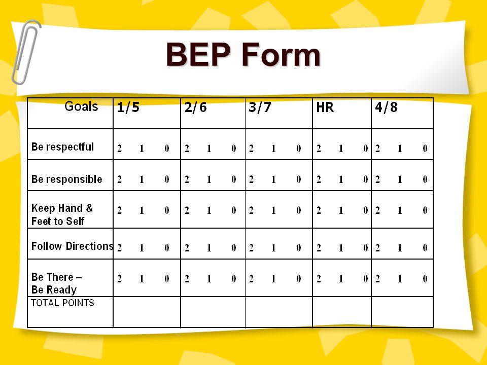 BEP Form myell@gwm.sc.edu christle@gwm.sc.edu