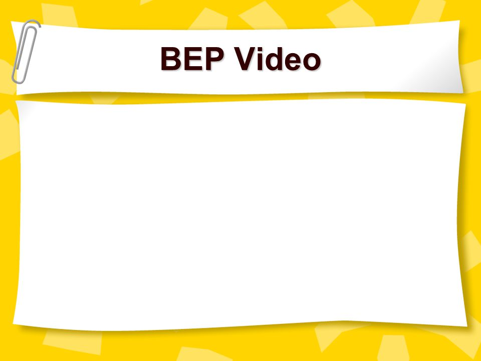 BEP Video myell@gwm.sc.edu christle@gwm.sc.edu