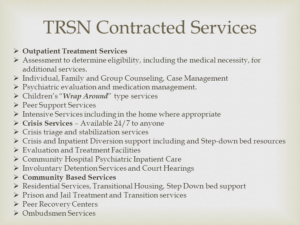 TRSN Contracted Services