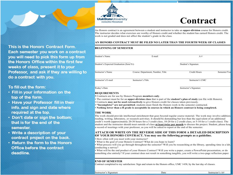 Fill in your information on the top of the form.
