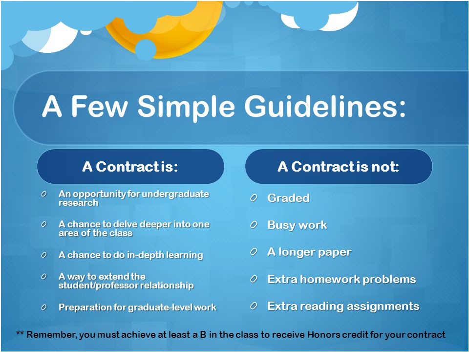 A Few Simple Guidelines: