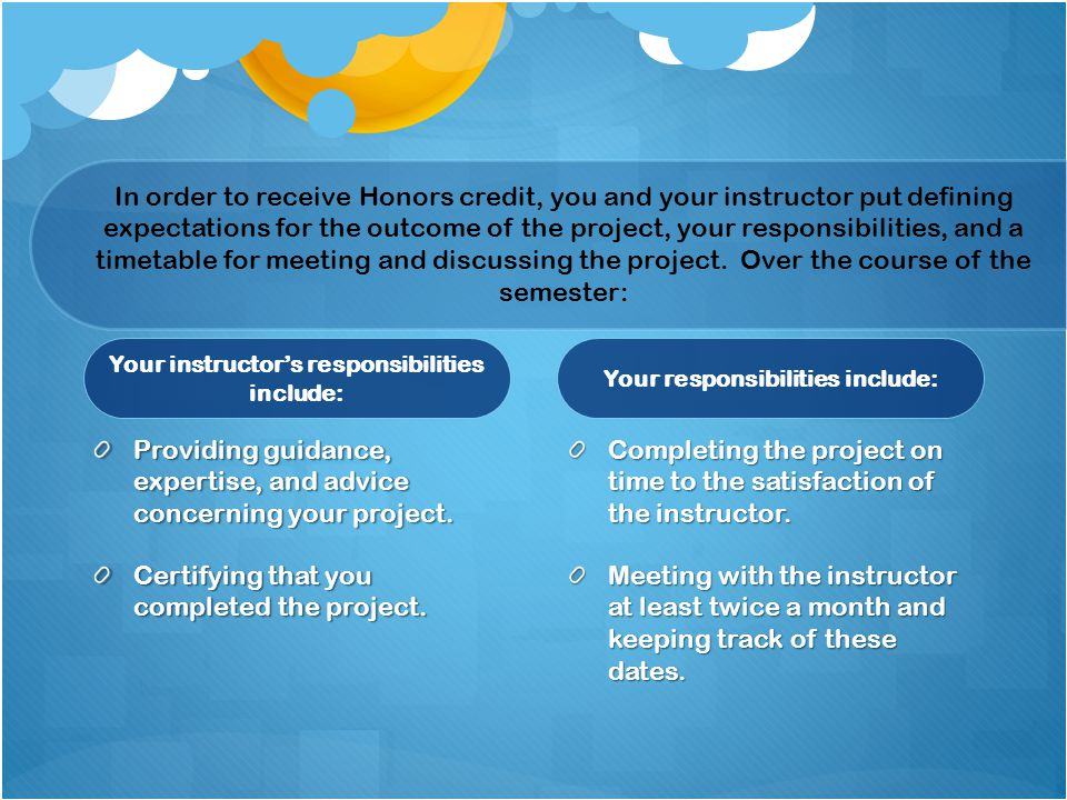 Providing guidance, expertise, and advice concerning your project.