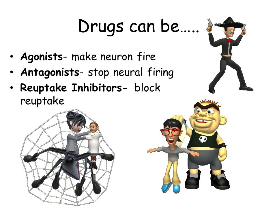 Drugs can be….. Agonists- make neuron fire