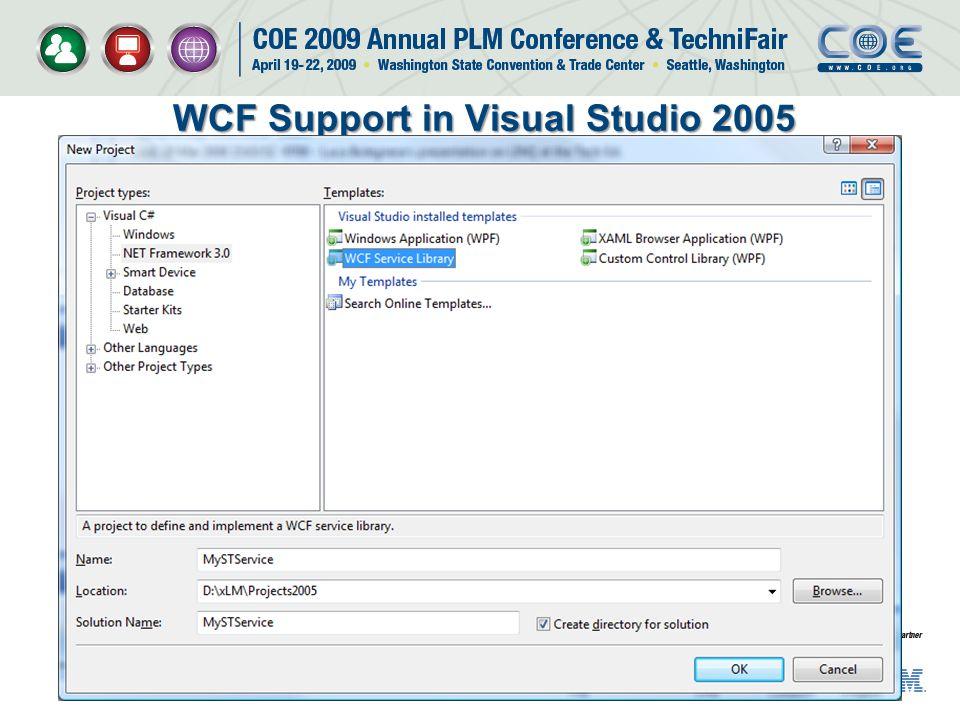 WCF Support in Visual Studio 2005