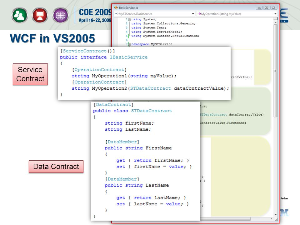 WCF in VS2005 Service Contract Data Contract