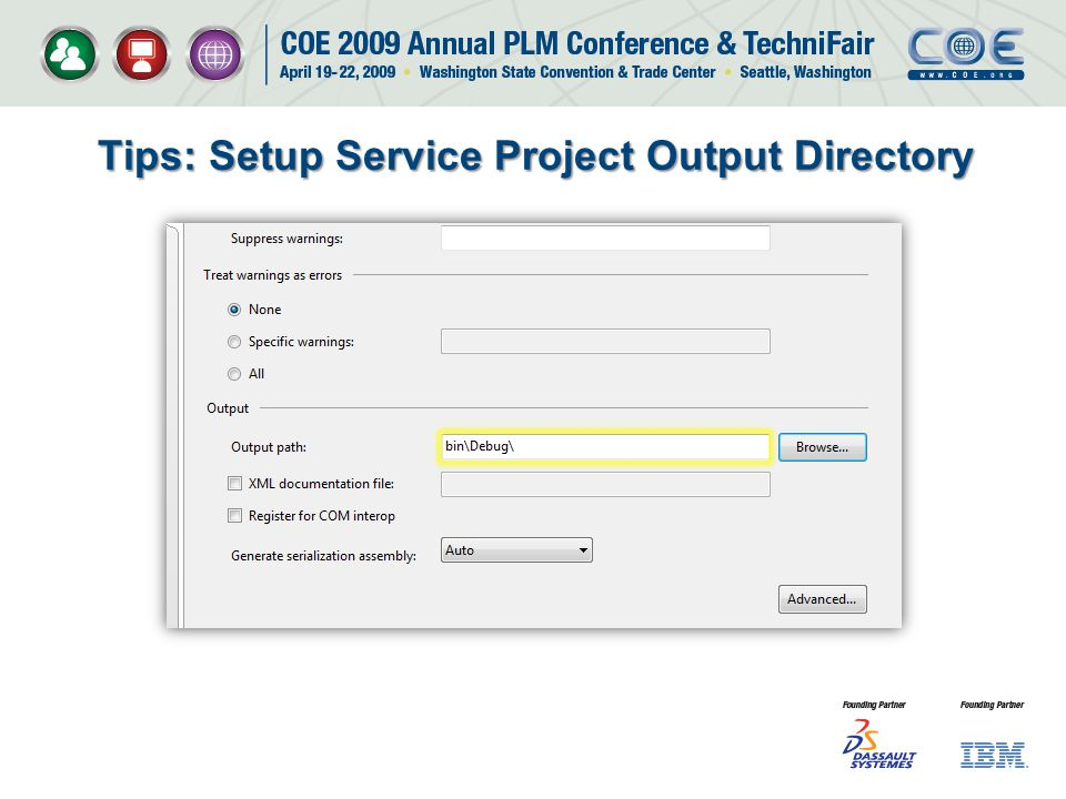 Tips: Setup Service Project Output Directory