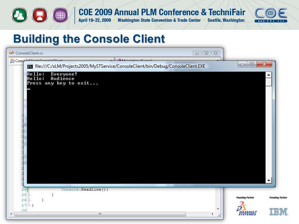 Building the Console Client