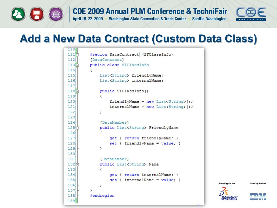 Add a New Data Contract (Custom Data Class)