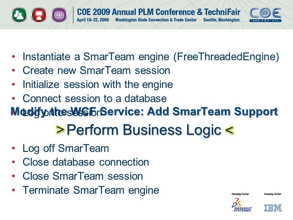 Modify the WCF Service: Add SmarTeam Support