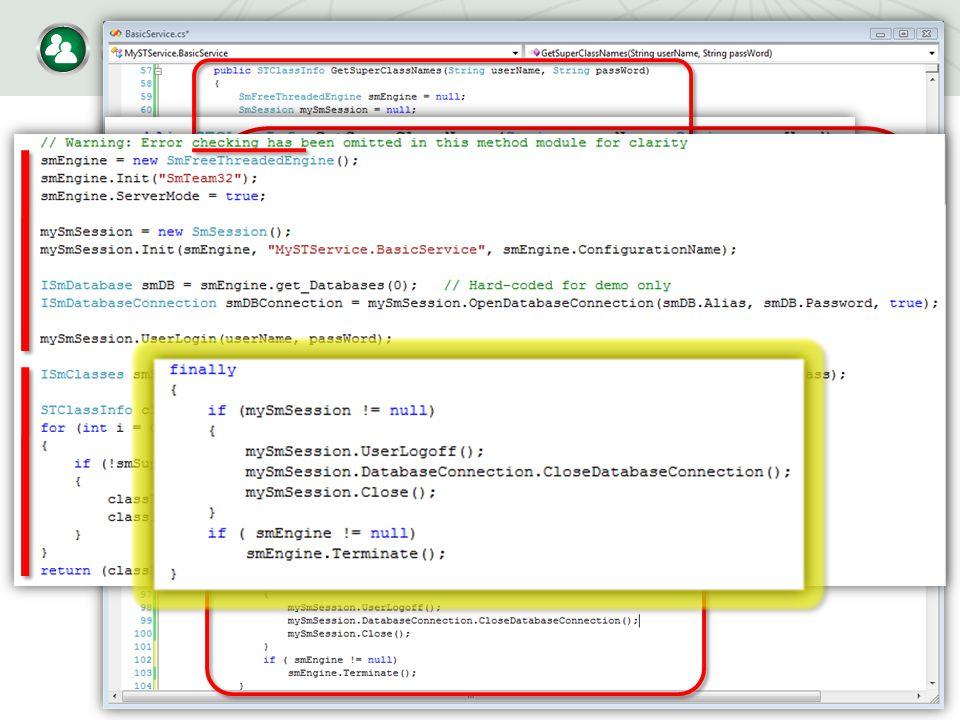 Modify the Service Code