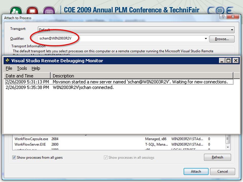 Debugging Your SmarTeam Service (With Visual Studio Remote Debugger)