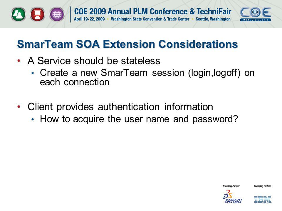 SmarTeam SOA Extension Considerations