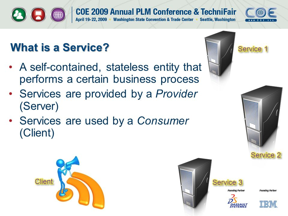 Services are provided by a Provider (Server)