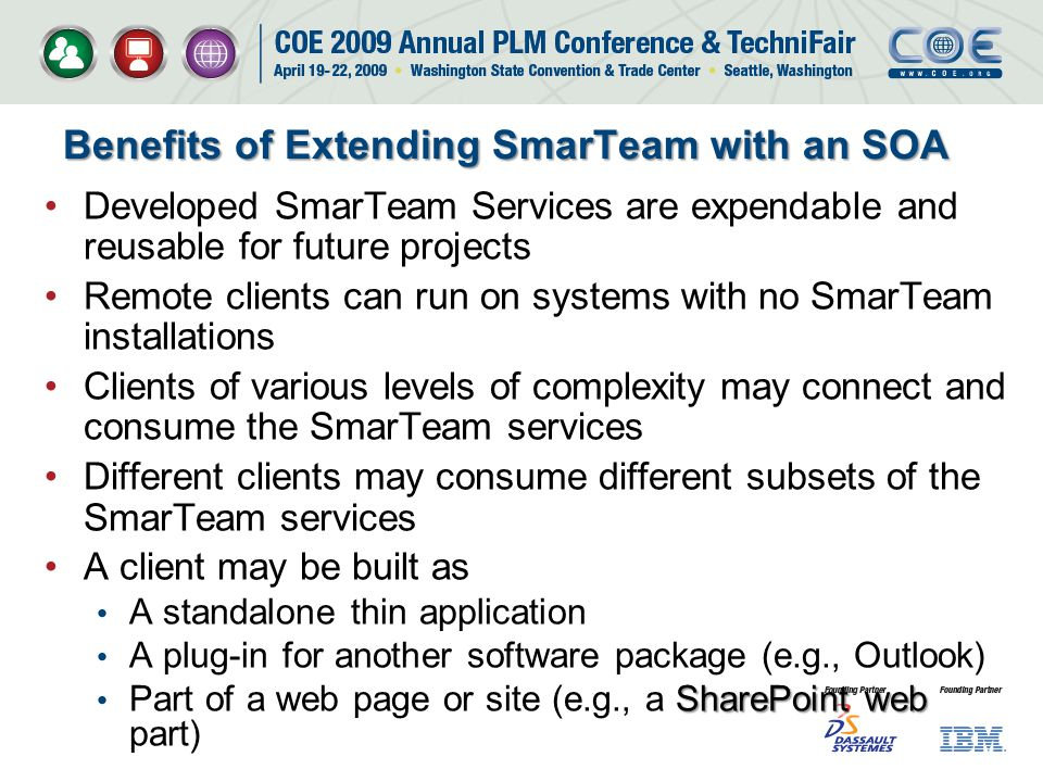 Benefits of Extending SmarTeam with an SOA