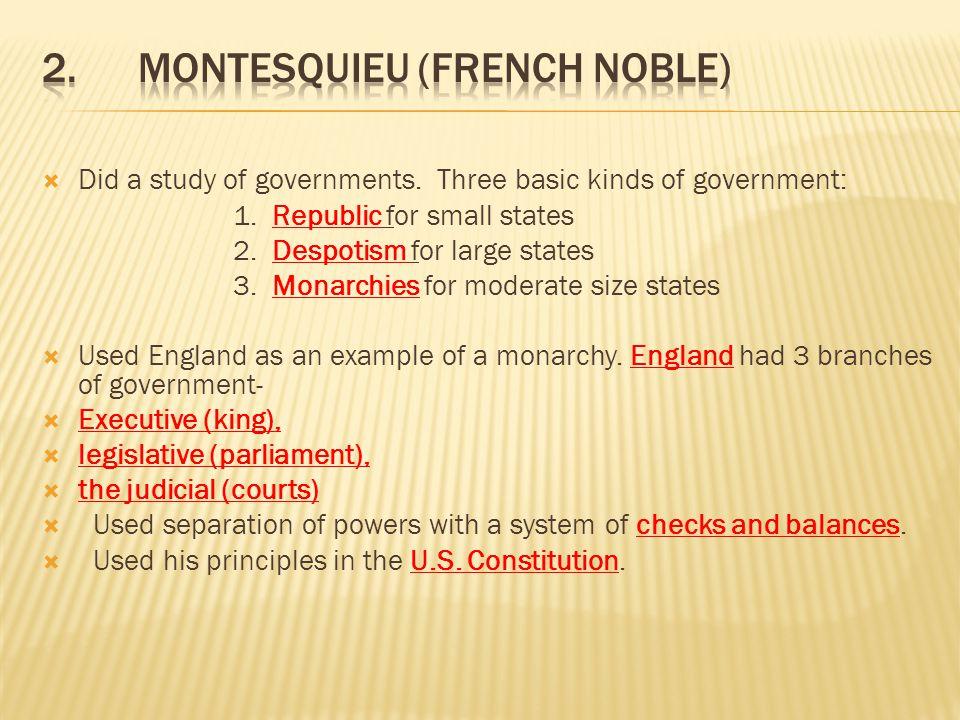 2. Montesquieu (French Noble)