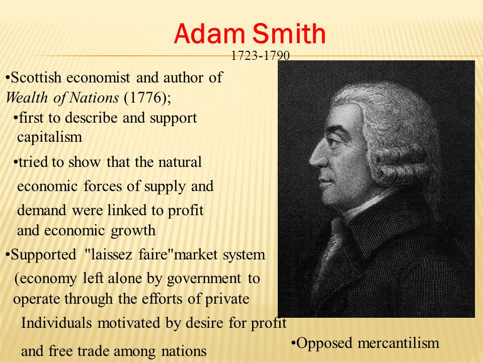 Adam Smith Scottish economist and author of Wealth of Nations (1776);