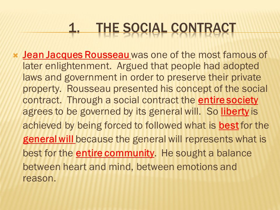 1. The Social Contract
