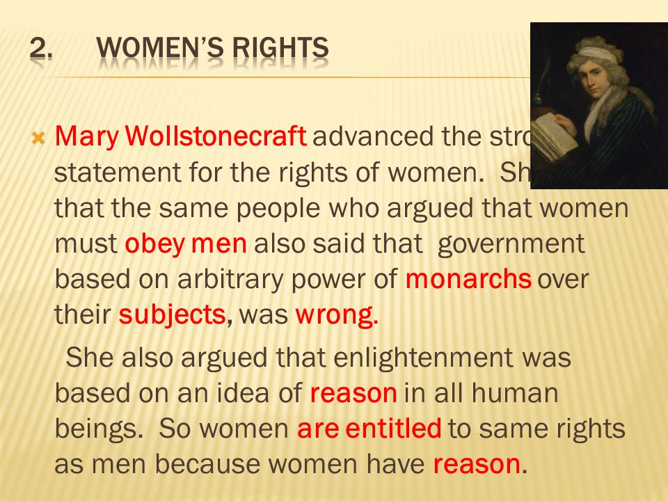 2. Women's rights